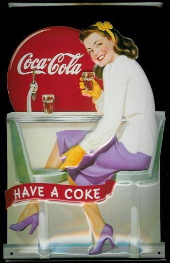 COCA COLA - COKE DINNER G. 3D fémplakát