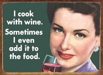 COOK WITH WINE fémplakát