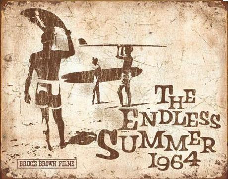 Endless Summer Retro fémplakát