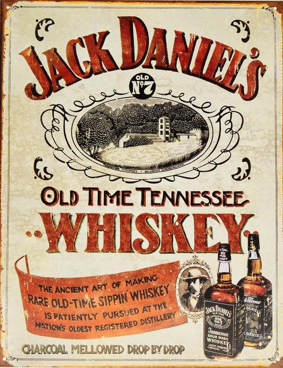 JACK DANIELS - sippin whisky fémplakát
