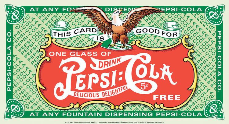 PEPSI DRINK CARD fémplakát