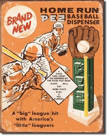 PEZ - baseball fémplakát