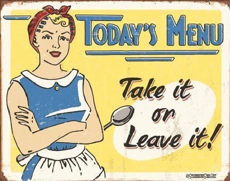 Fém tábla SCHONBERG - today's menu