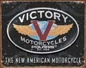 VICTORY MOTORCYCLES fémplakát