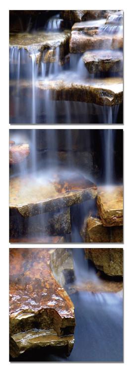 Rock waterfall Modern kép