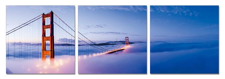San Francisco - Golden Gate in Mist Modern kép