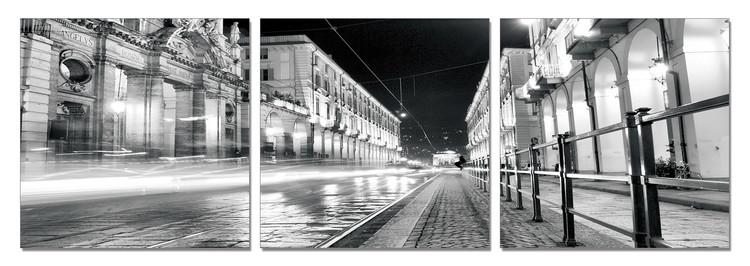Turin - Night Rush modern festmény
