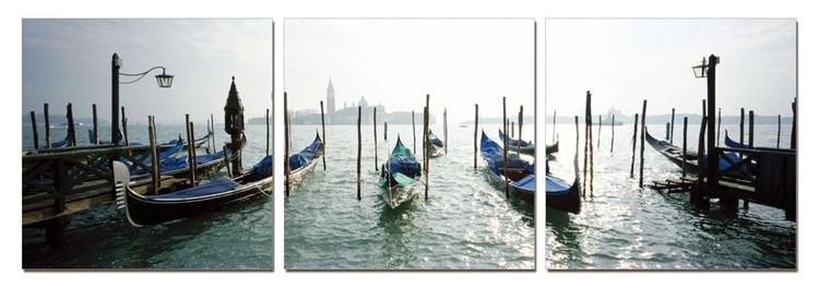 Venice - Port for Gondolas modern festmény