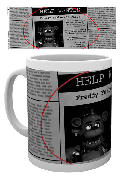 Taza Five Nights At Freddy's - Help Wanted