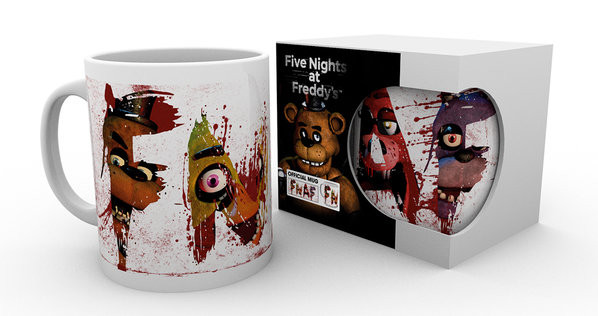 Taza Five Nights At Freddy's - Letters