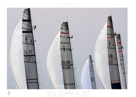 Fleet racing - 32nd America's Cup Festmény reprodukció