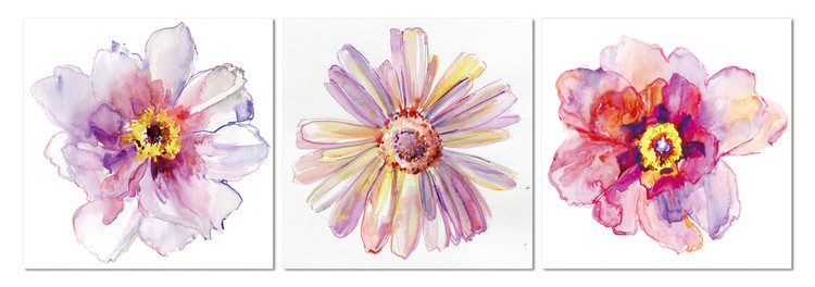 Flower Tableau Multi-Toiles