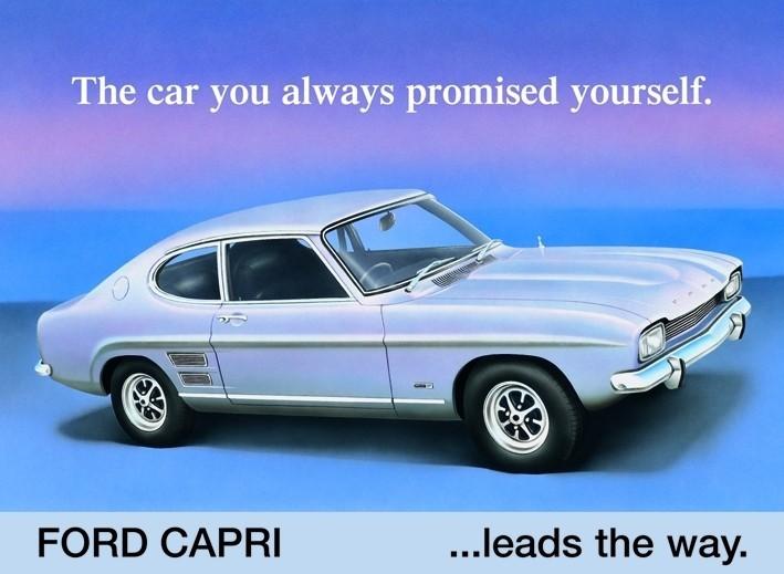 FORD CAPRI Plaque métal décorée