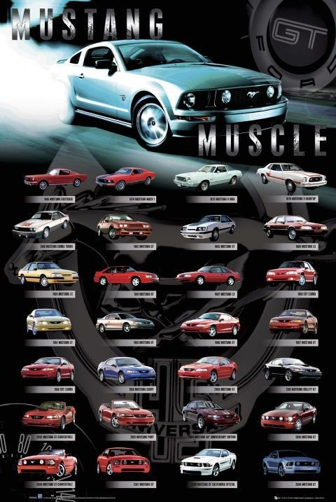 Ford - Mustang comp - плакат (poster)