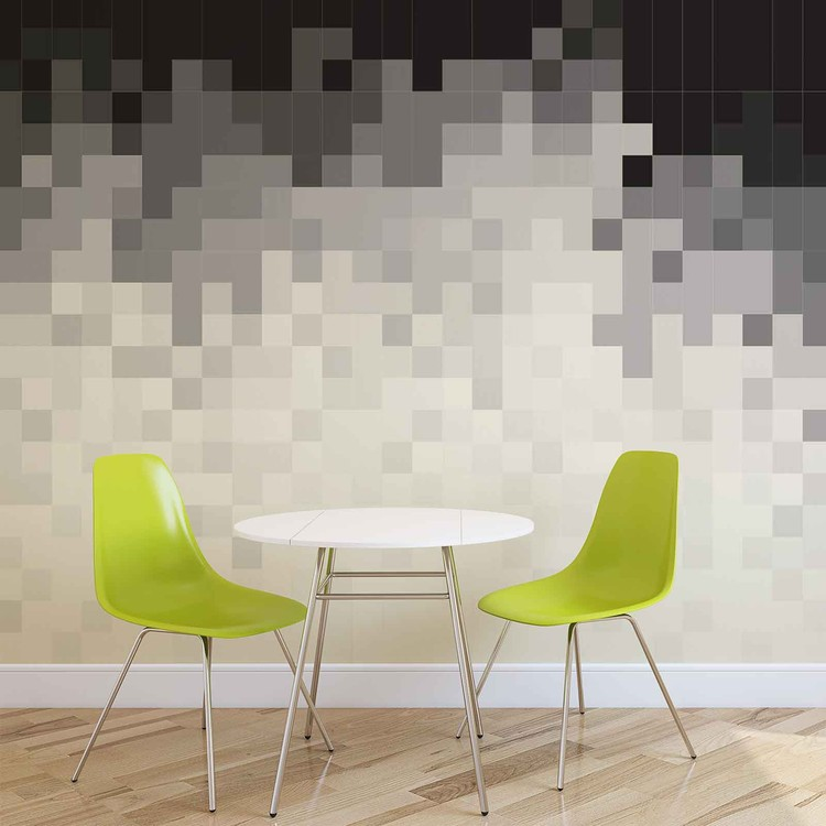 Abstract Pattern Black White Fotobehang