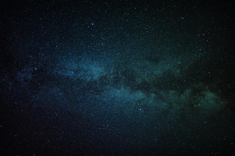 Astrophotography of blue Milky Way II Fotobehang