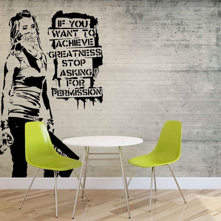 Banksy Graffiti Fotobehang