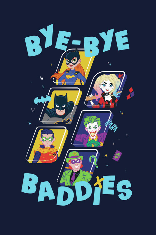 Batman - Baddies Fotobehang