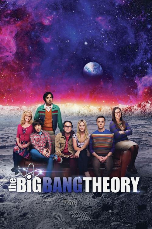 Big Bang Theory - Op de maan Fotobehang