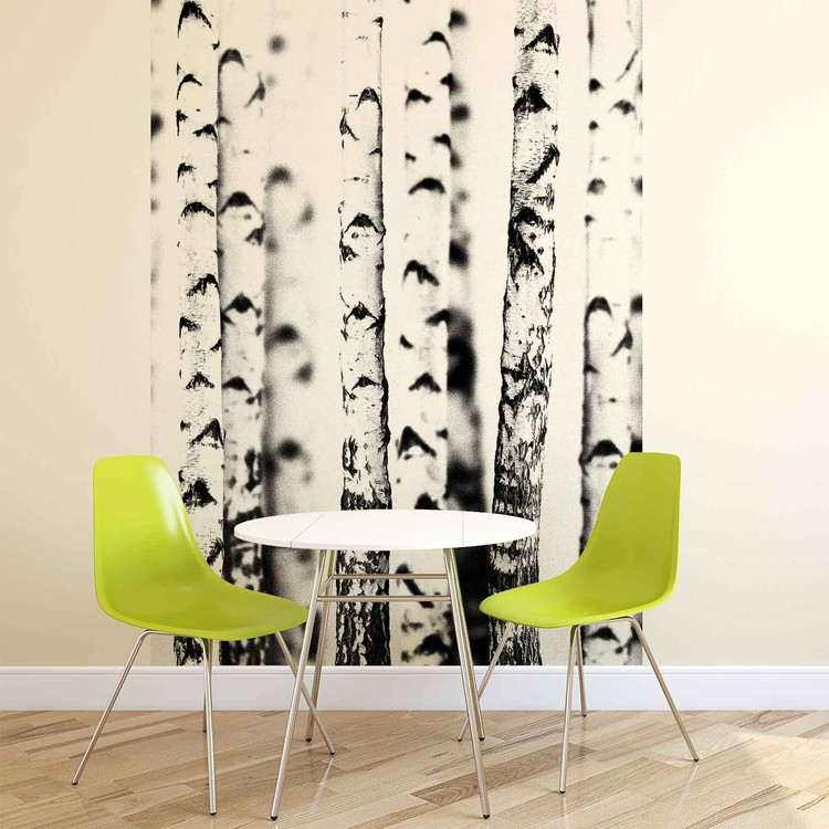 Birch Trees Fotobehang