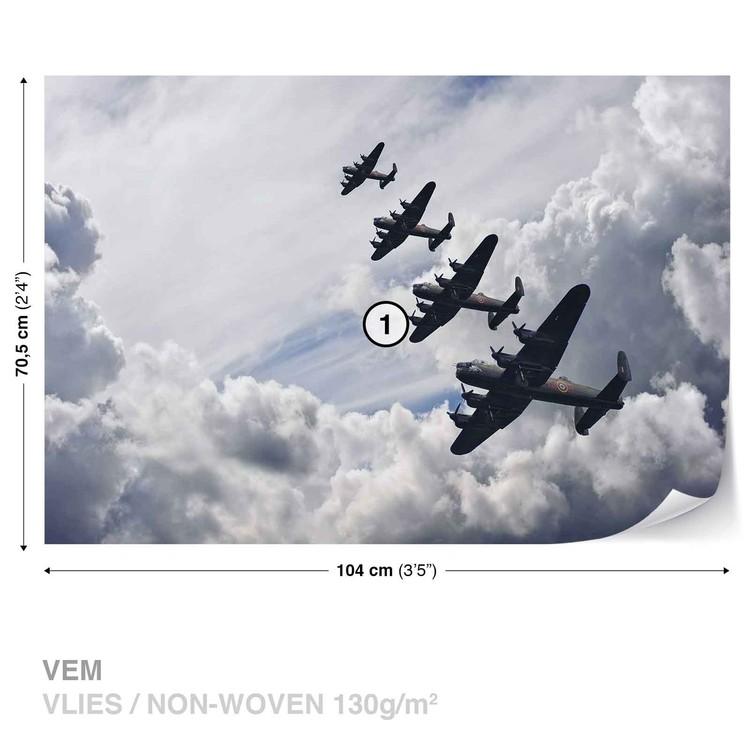 Bomber planes Fotobehang