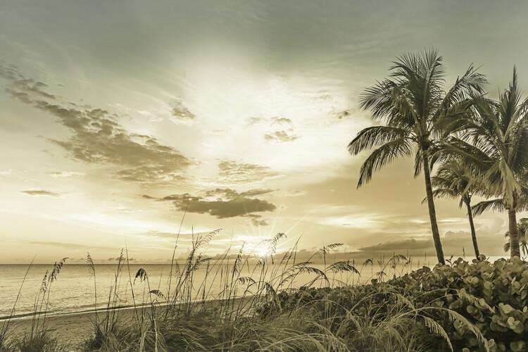 BONITA BEACH Sunset | Vintage Fotobehang