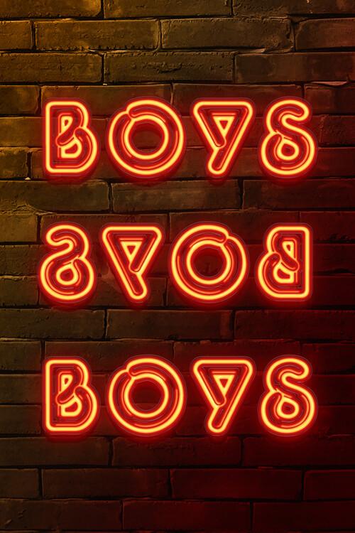 BOYS BOYS BOYS Fotobehang