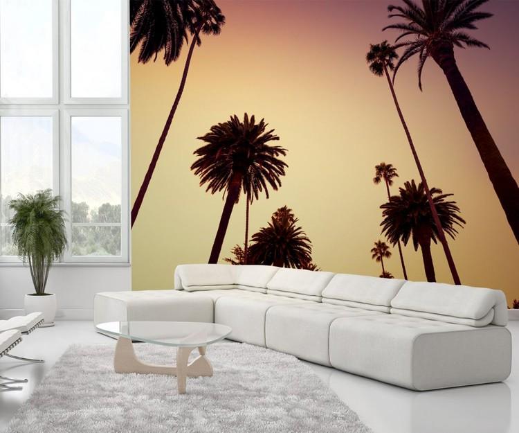 Californië - palmbomen Fotobehang