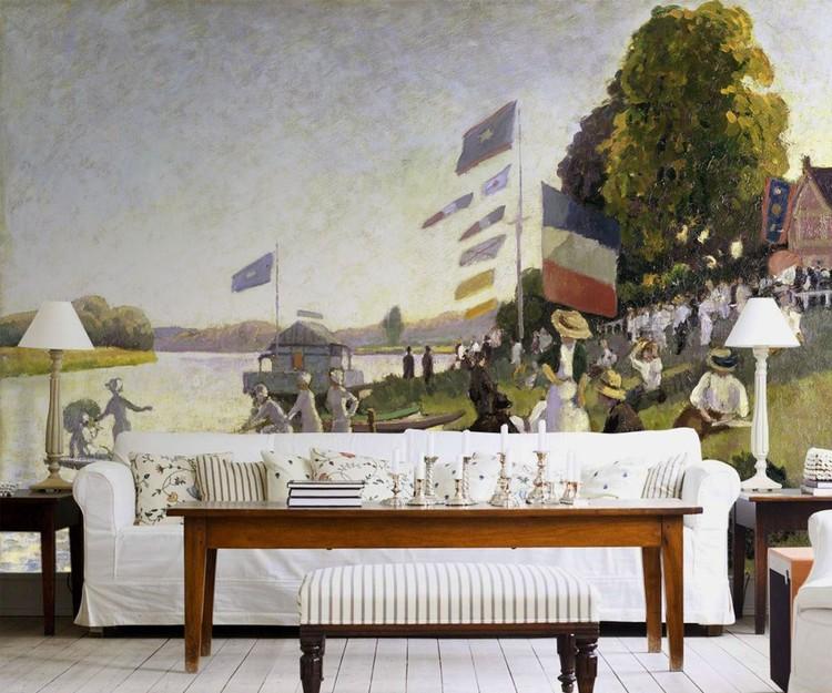 Camille Pissarro - Regatta Fotobehang