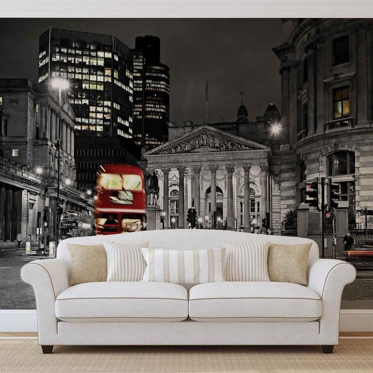 City London Bus Red Fotobehang