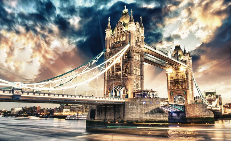 City London Tower Bridge Fotobehang