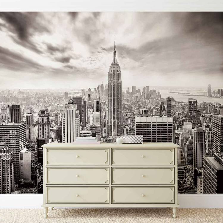 Foto Behang New York.City Skyline Empire State New York Fotobehang Behang Bestel Nu Op