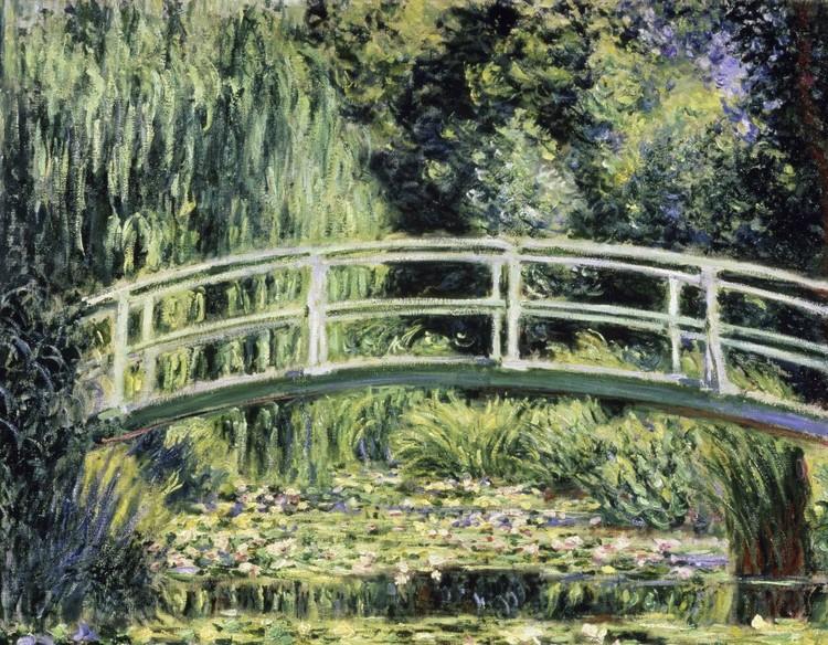 Woonkamer woonkamer japanse stijl : Bestel een Claude Monet - De Japanse brug en de waterlelies Fotobehang ...