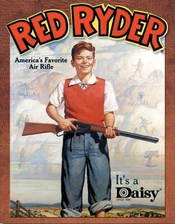 Daisy red Ryder Fotobehang