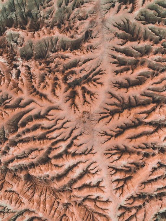 Eroded red desert Fotobehang