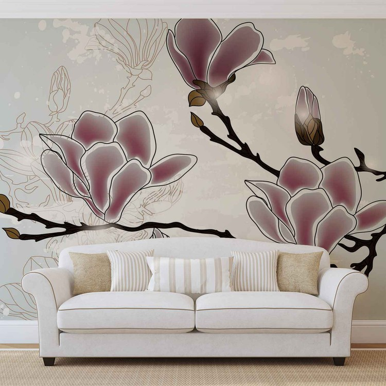 Flowers Magnolia Branch Fotobehang