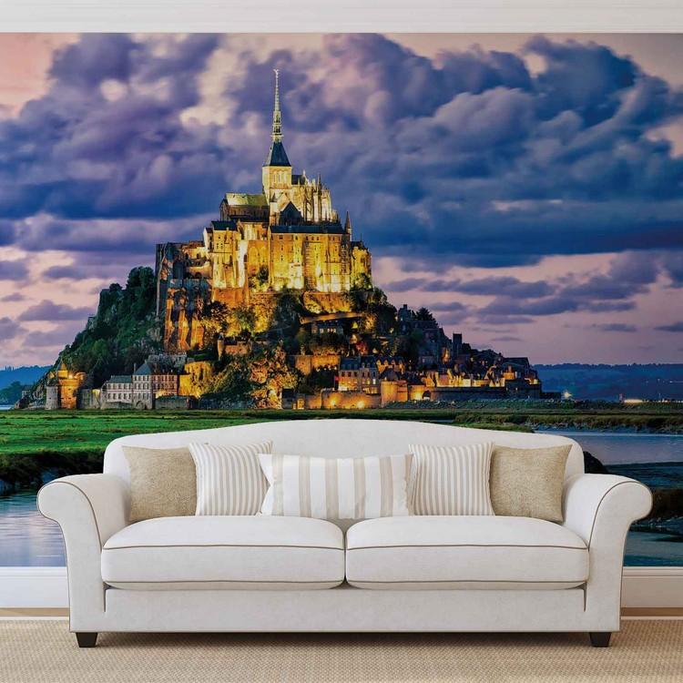 France Mont Saint Michel Fotobehang
