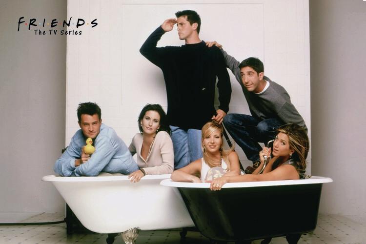 Friends - Bath Fotobehang