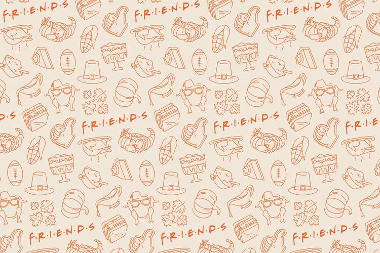 Friends - Food Fotobehang