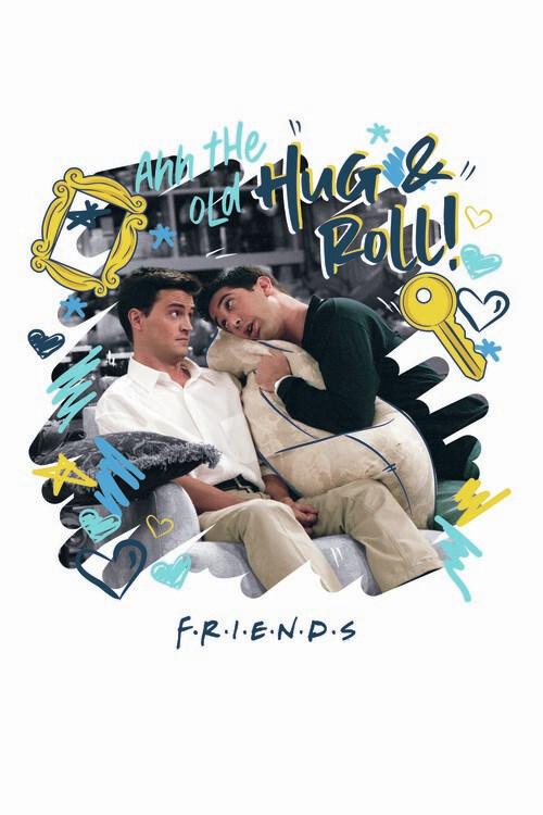 Friends - Hug and Roll! Fotobehang