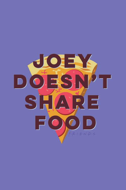 Friends - Joey doesn't share food Fotobehang