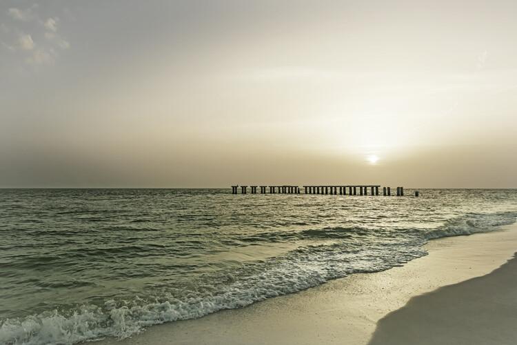 Gasparilla Island Sunset | Vintage Fotobehang