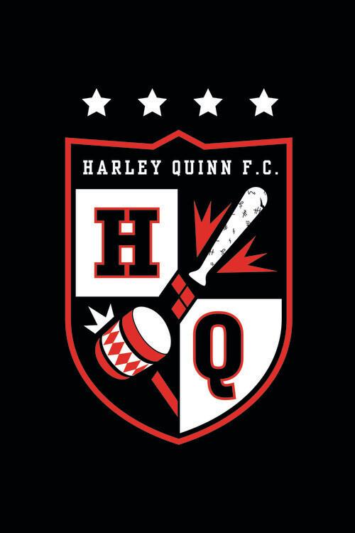 Harley Quinn - Baseball Fotobehang