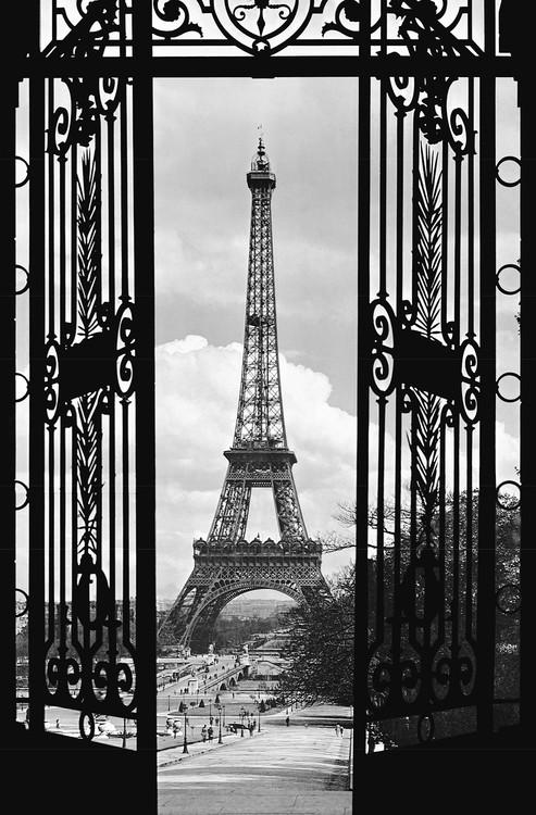 LA TOUR EIFFEL 1909 Fotobehang