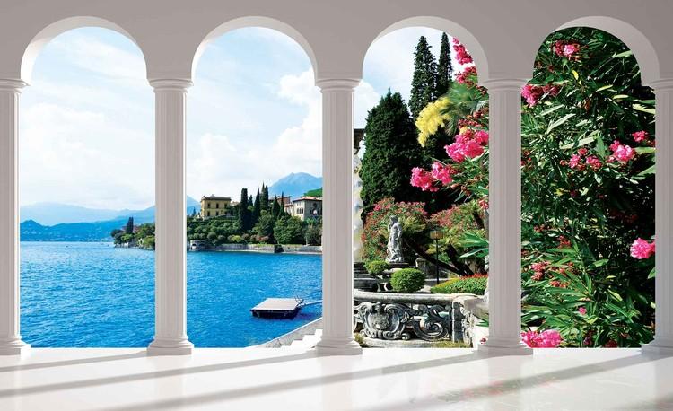 Lake Como Italy Arches Fotobehang