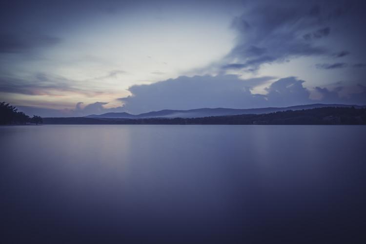 Landscapes of a big lake Fotobehang