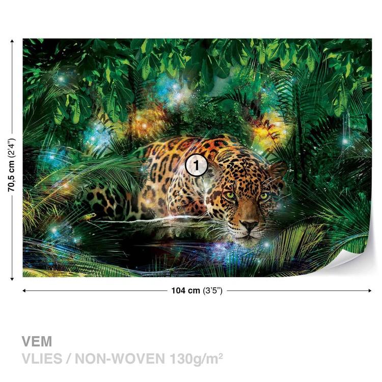 Leopard In Jungle Fotobehang