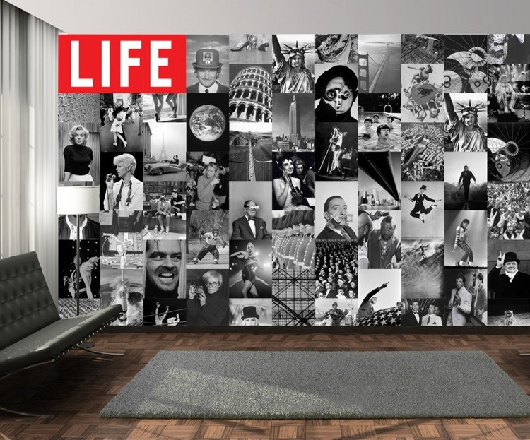 Life - black and white Fotobehang