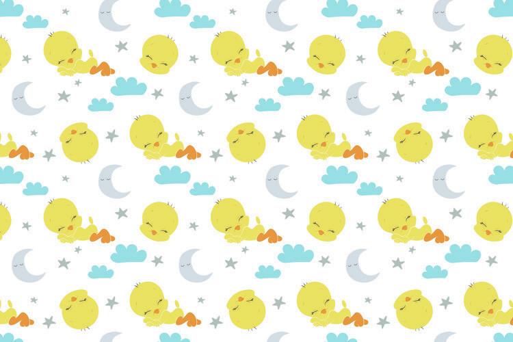 Looney Tunes - Sleeping Tweety Fotobehang
