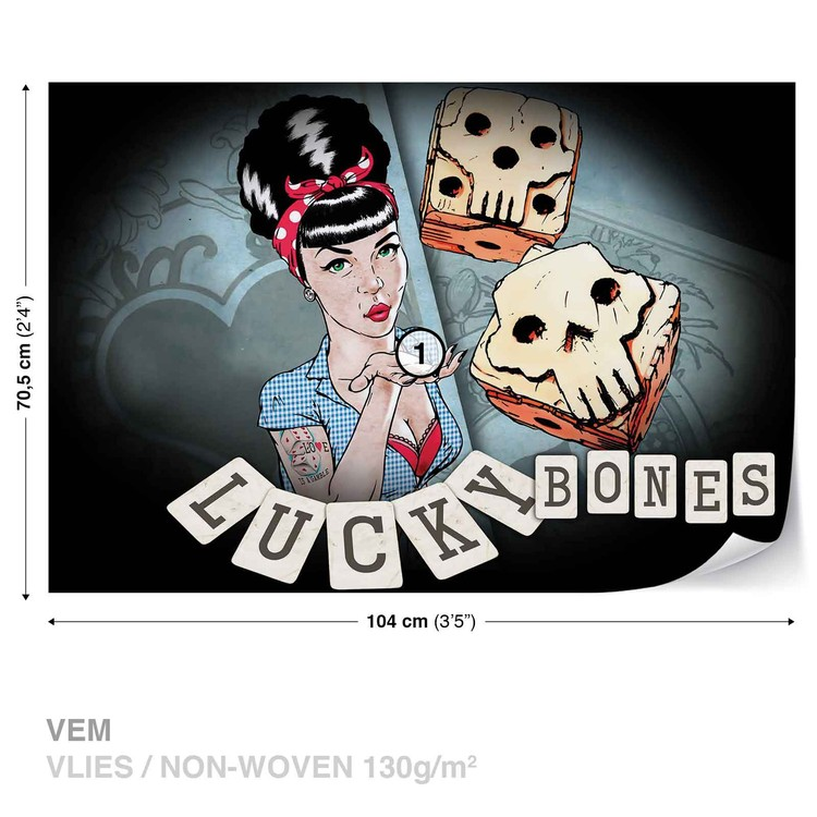 Lucky Bones Alchemy Tattoo Fotobehang